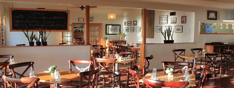 sunny restaurant setting